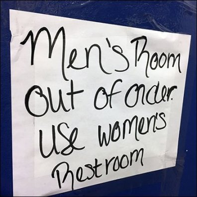 Men's Restroom Out-of-Order Surprise