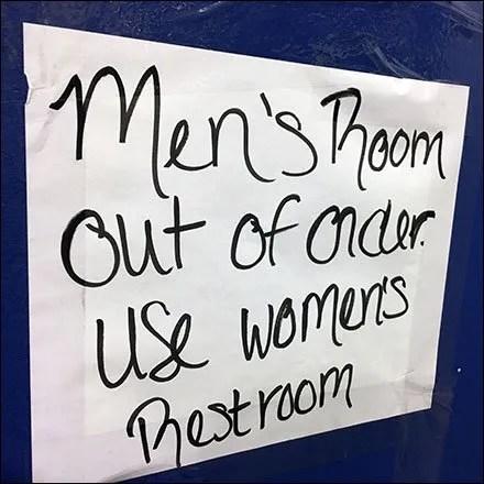 Men's Restroom Out-of-Order Surprise