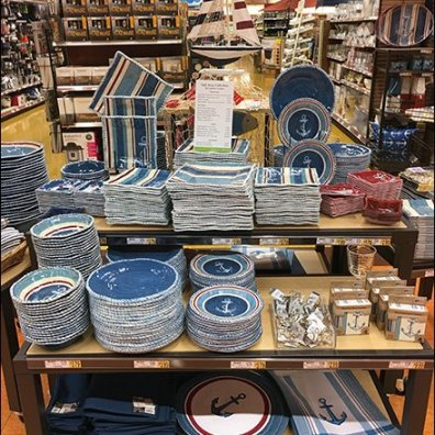 Nautical Tableware Display Bow View 3