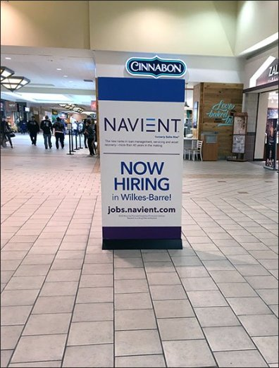 Now Hiring On The Mall Concourse