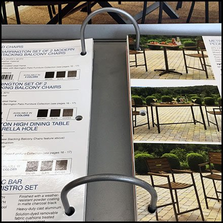 Patio Furniture Ring Binder Kiosk In-Store