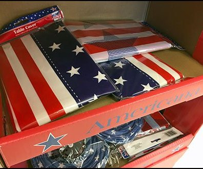 Patriotic Americana Corrugated Display