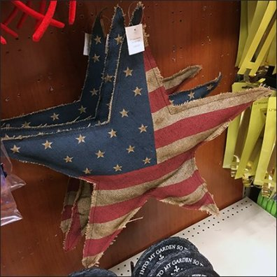 Patriotic Pillow On A Straight-Entry Hook
