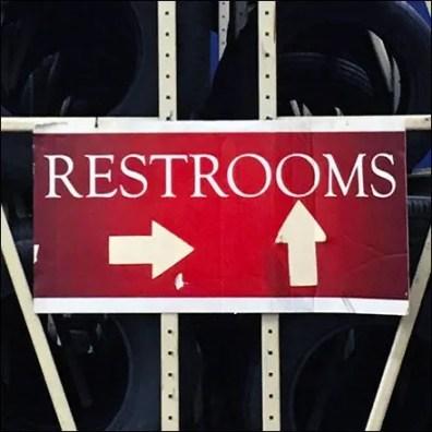 Restroom Labyrinth Navigation Signs