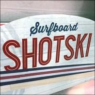 Shotski Surfboard Summer Shot Glass Serving Tray