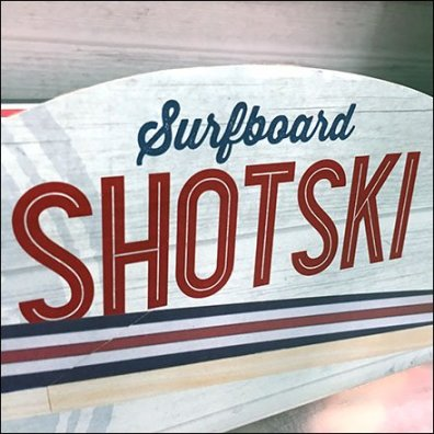 Shotski Surfboard Summer Shot Glass Serving Tray