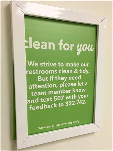 Text Your Restroom Review and Feedback