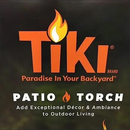 Tiki Torch Merchandising - Upscale Tiki Patio Torch Pallet Merchandising
