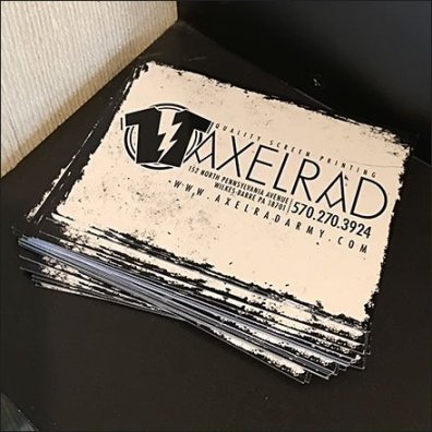 Stepped Card Holder And Branded Brochures