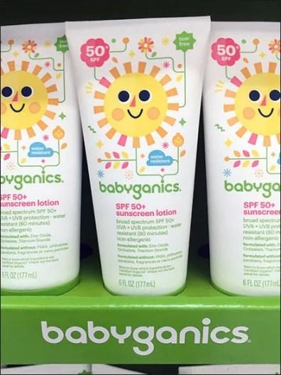 Colorful Babyganics SPF 50+ Sunscreen PowerWing