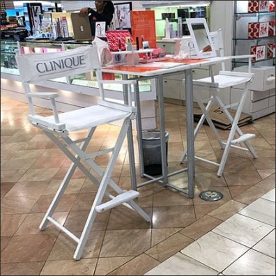 Clinique Directors Chair For Cosmetics