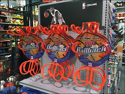 Basketball Ballback Bar Mount Endcap Display