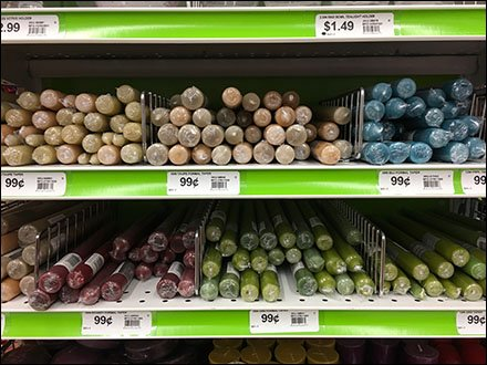Fencing as Candle Shelf Dividers