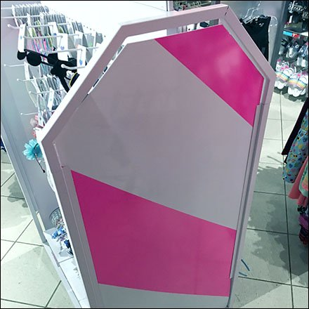 Children's Place Pink Dazzle Paint Safety Stripes