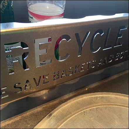 Chipolte Mexican Grill Bottle Recycling Rack