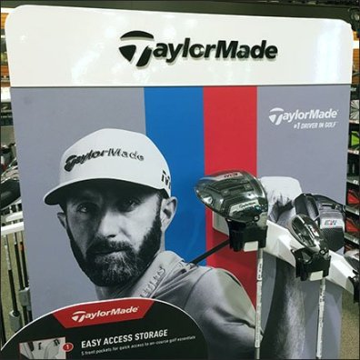 Taylor Made Golf Club Hangrail Display