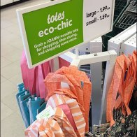 Eco-Chic Tote Tower Merchandising