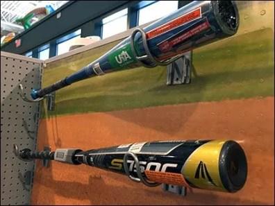Baseball Bat Flatback Loop Hook Display