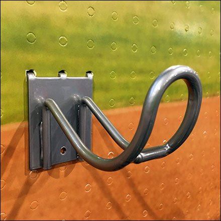 Baseball Bat Flatback Loop Hook Display