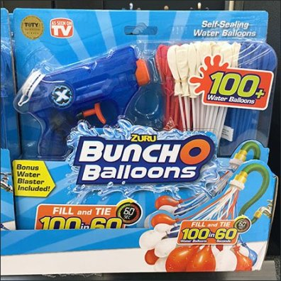 Free Squirt Gun With Water Balloon Purchase