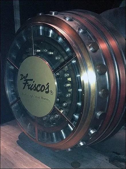 Del Fresco's Steak House Safe Door Branding
