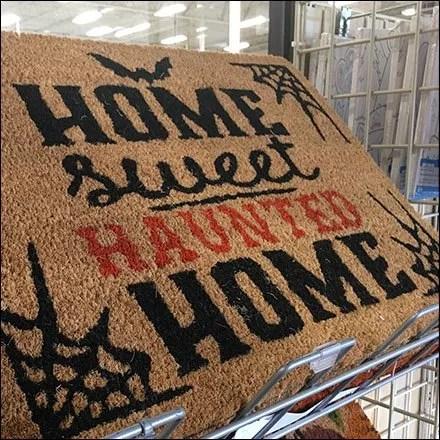 Home Sweet Haunted Home Welcome Mat Rack