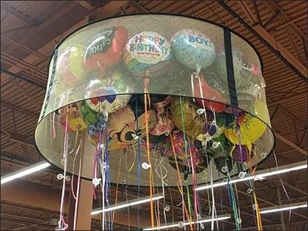 Helium Balloon Circular Ceiling Corral