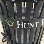 Hunt Valley Towne Center Branded Trash Bin