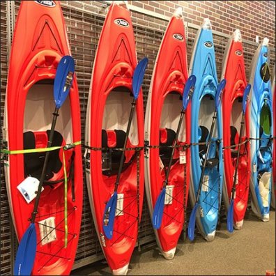 Sit-Inside Kayak Slatwire Lineup Display