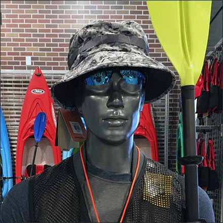 Mannequin Bolstered Kayak Lifestyle Sell