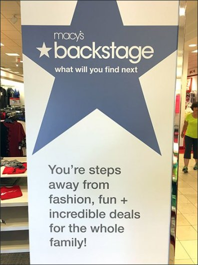 Macys Backstage Tower Signage