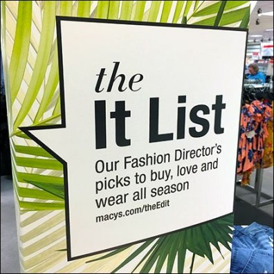 Macys It List For Summer Seasonals