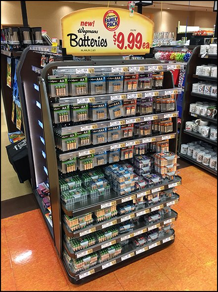 Private Label Battery Cashwrap Display
