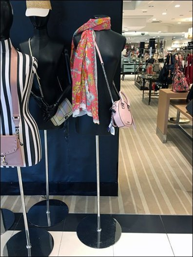 Bloomingdale's Shoulder Toss Scarf Merchandising