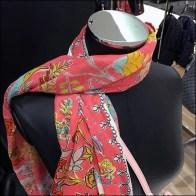 Bloomingdale's Shoulder Toss Scarf Merchandising