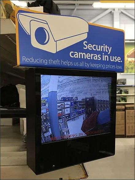 Security Camera Monitors In Use Warning