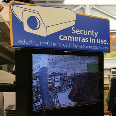 Security Camera Monitors In Use Warning
