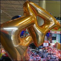 Fantastic Store Entry Spelled Out In Balloons