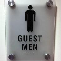Sub-Zero Guest Restroom Sign Standoffs