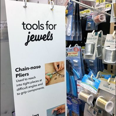 Tools for Jewels Gondola Sign Arm