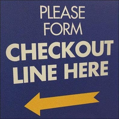 Please Form Checkout Line Left Directional