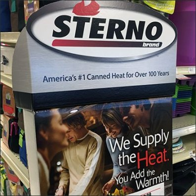 100 Years Of Canned Sterno Heat On Display