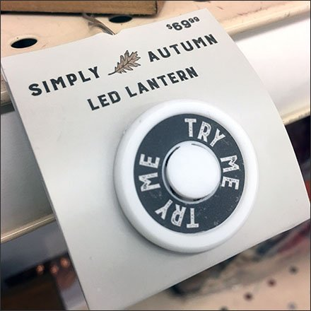 Autumn Lantern Shelf-Edge Try Me Button