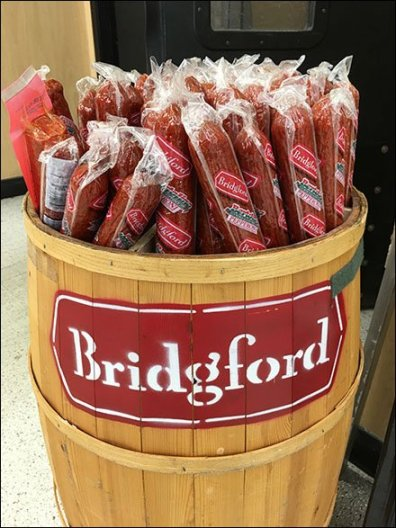 Bridgeford Branded Barrel Pepperoni Display