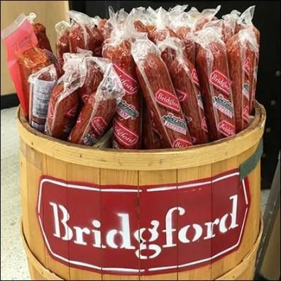 Bridgeford Branded Barrel Pepperoni Display