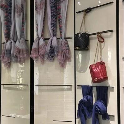 Chanel Scarf Bar Wall Display Merchandising
