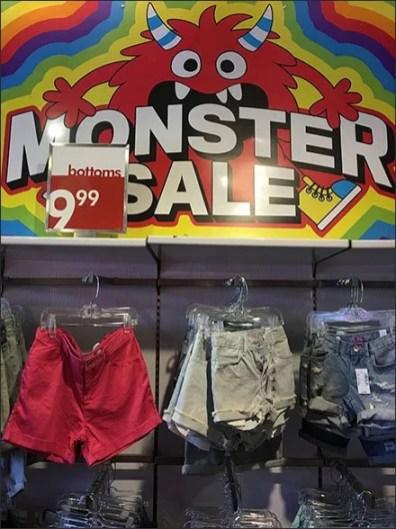 Monster Merchandising Sale Signage Theme