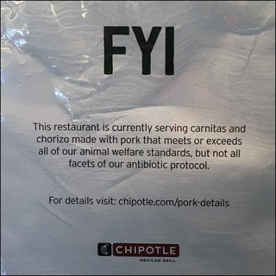 Chipotle Honesty In Food Preparation