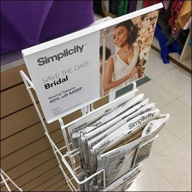 Endcap Literature Holder For Sewing Patterns