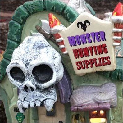 Halloween Monster Hunting Supplies in Spooky Town